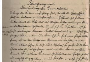 Ein Gartenbau-Lehrling und sein altes Berichtsheft (etwa aus der Zeit um 1900)
